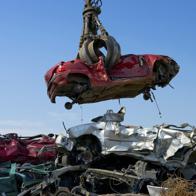 Scrap Car Bodies After Dismantling Parts