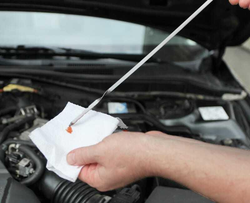 Check the transmission box fluid level